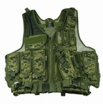 TG100W Woodland Digital Camouflage Deluxe Tactical VEST