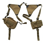 TG208TA Tan Horizontal Shoulder Holster and Pouch - 3L-INTL