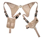 TG235DA Desert Camo Universal Horizontal Shoulder Holster with Mag Pouches - 3L-INTL