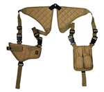 TG235TA Tan Universal Horizontal Shoulder Holster with Mag Pouches - 3L-INTL