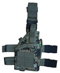 TG246W Woodland Digital Camouflage Tactical Leg Holster with Web Straps - 3L-INTL