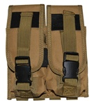 TG305T Tan MOLLE Double Rifle Magazine Pouch - 3L-INTL