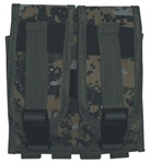 TG305W Woodland Digital Camouflage MOLLE Double Rifle Mag Pouch - 3L-INTL